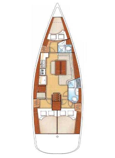 interno Oceanis 45 Beneteau